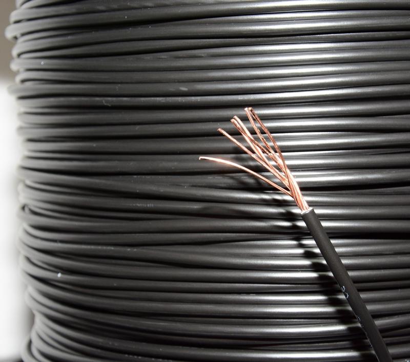 Kabel Przewód H07V-R LY 1×6 mm2 CZARNY CU
