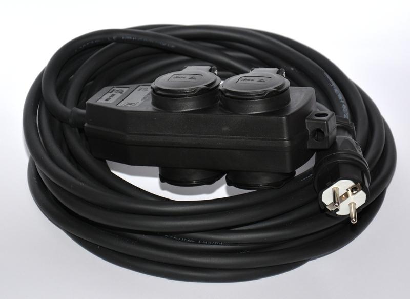 Przedłużacz gumowy rozgałęźnik 40m H07RN-F 3×2,5
