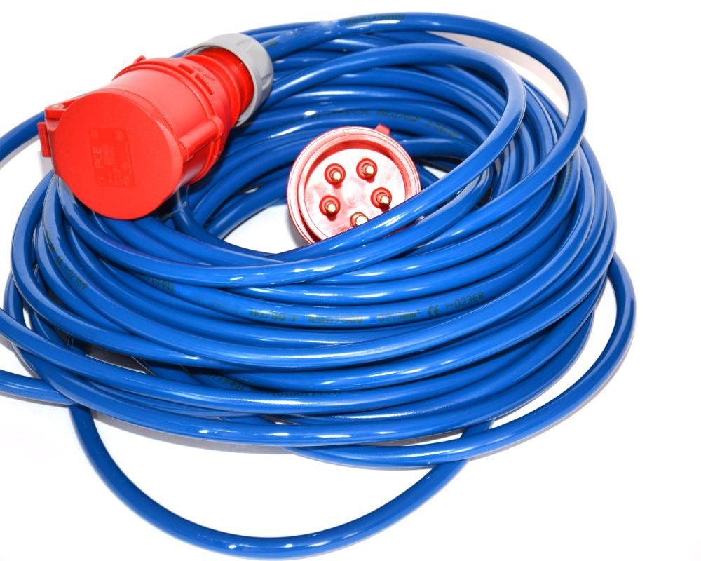 Przedłużacz poliuretanowy niebieski 16A H07BQ-F 5×2,5mm2 30m