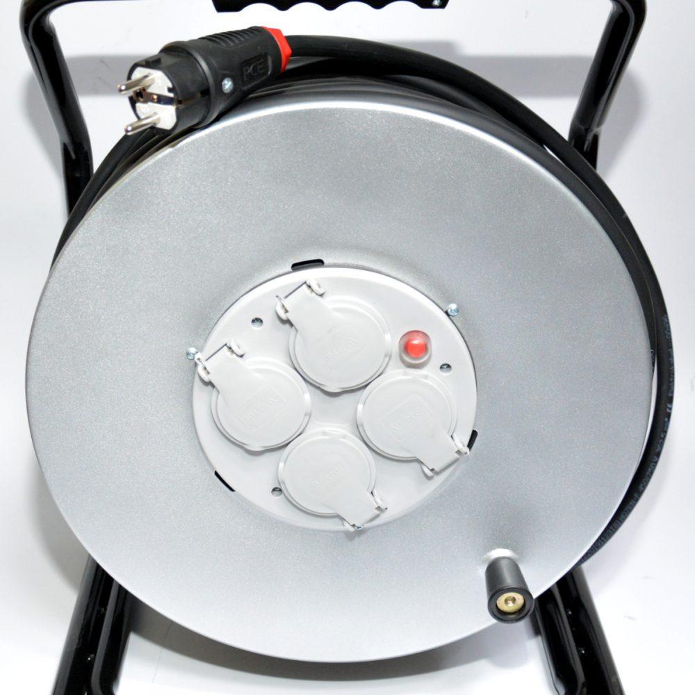 H07RN-F 3×1,5 – 30m gumowy przedłużacz bęben metalowy duży