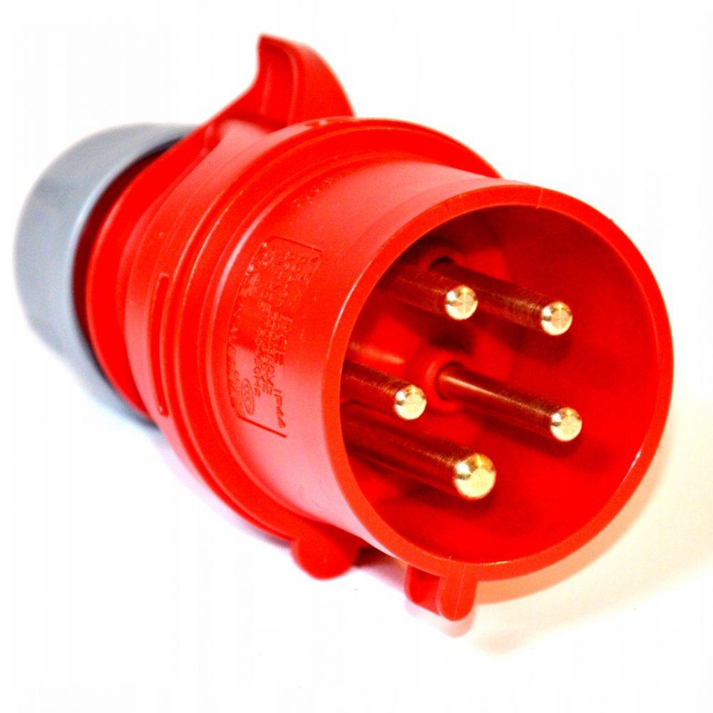 Wtyczka PCE 7015-6 16A 5p 6h IP44 ze zwrotnicą faz